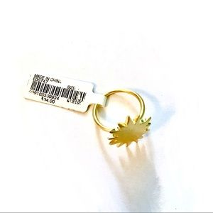 NEW Madewell Gold-Plated Brass Ring (Sz 7)